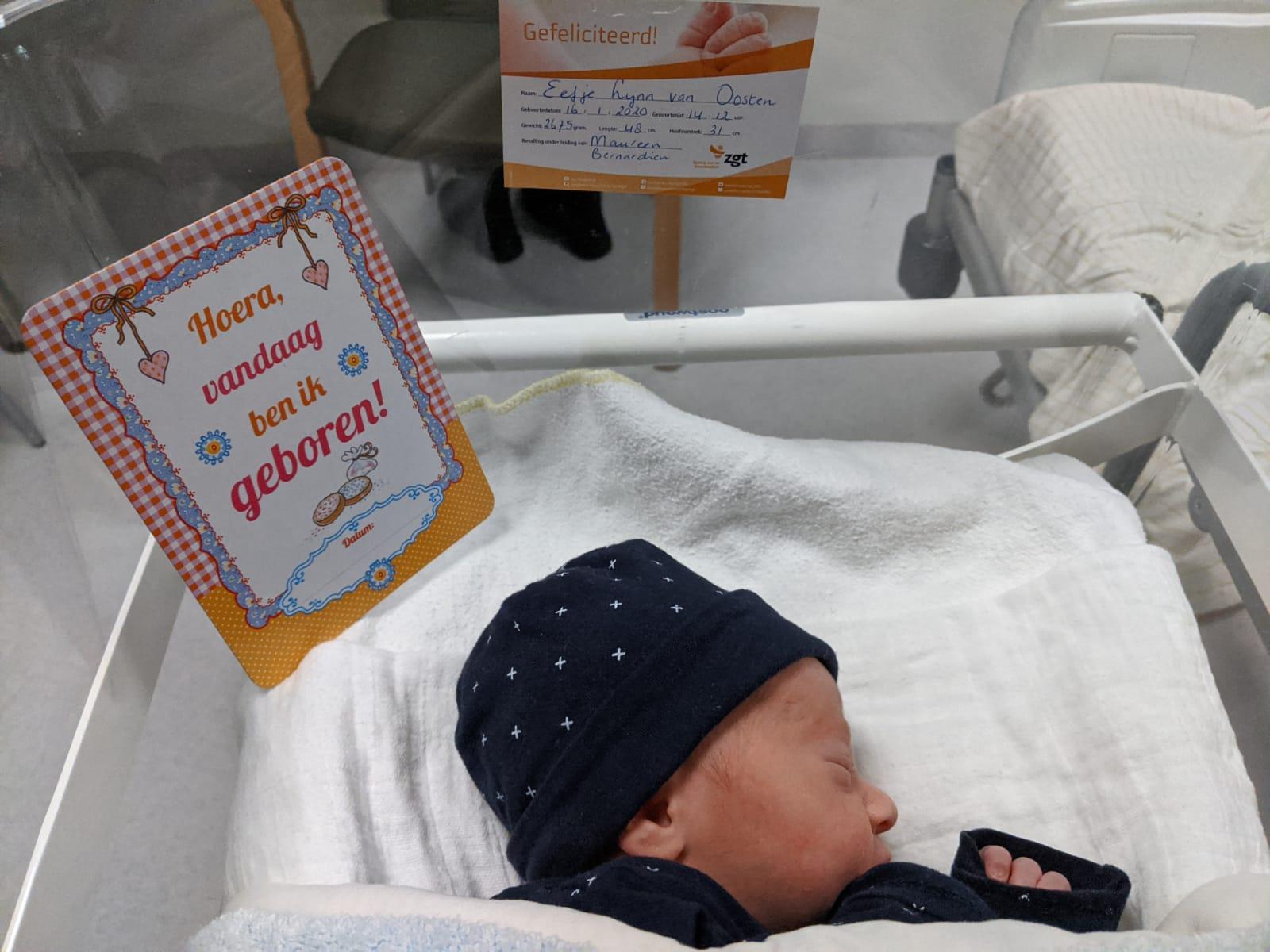 Bevallingsverhaal, Eefje is geboren!